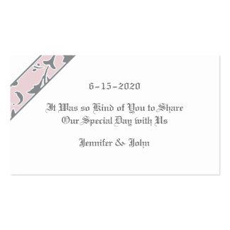 El gris del estaño se ruboriza rosa etiqueta del tarjetas personales