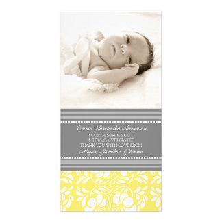 El gris del limón le agradece las tarjetas de la f tarjeta con foto personalizada