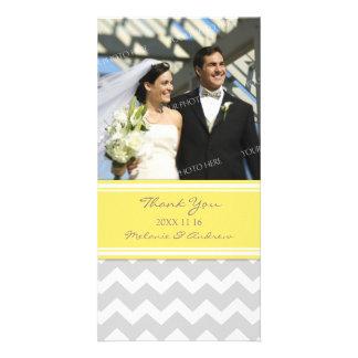 El gris del limón le agradece las tarjetas de la f tarjeta fotográfica personalizada