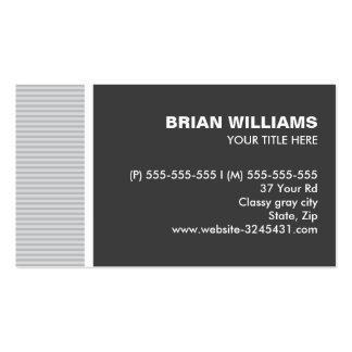 El gris elegante moderno raya perfil profesional tarjetas de visita