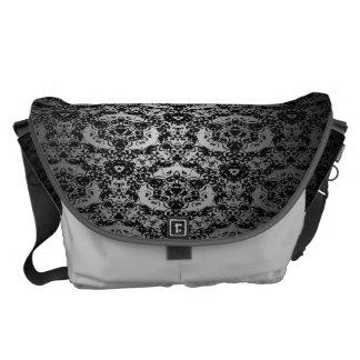 El gris elegante se descolora bolso negro de la bolsas messenger