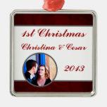 El gris marrón oscuro de encargo personalizado rem ornamento para arbol de navidad