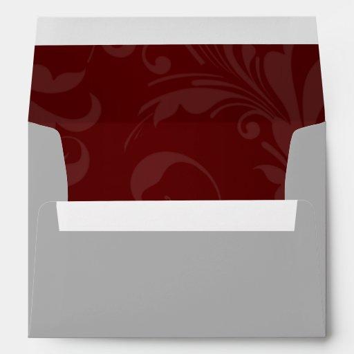 el gris marrón oscuro de la opción 1 del sobre 5x7