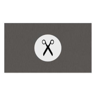 El gris moderno de la textura Scissor al Tarjetas De Visita