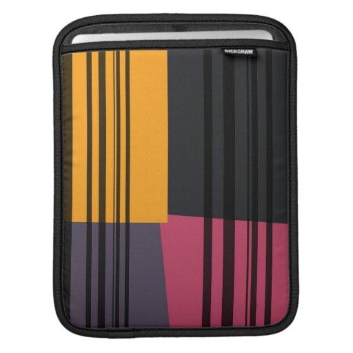 El gris negro rosado amarillo del vintage raya el  funda para iPads