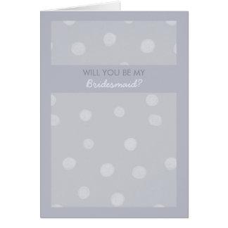 El gris plateado pintado de los puntos sea mi tarjeta de felicitación