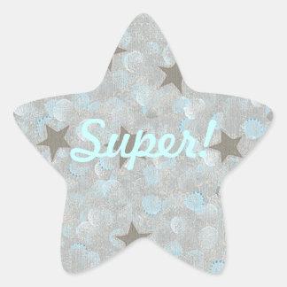 El gris protagoniza a los pegatinas estupendos de pegatina en forma de estrella