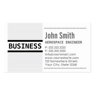 El gris raya la tarjeta de visita del ingeniero ae