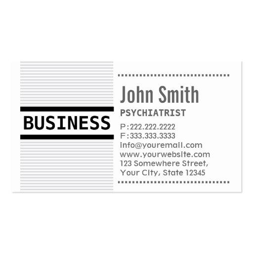 El gris raya la tarjeta de visita del psiquiatra
