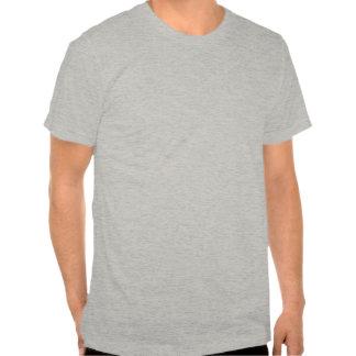 El gris retro del robot del vintage semi cupo la camisetas