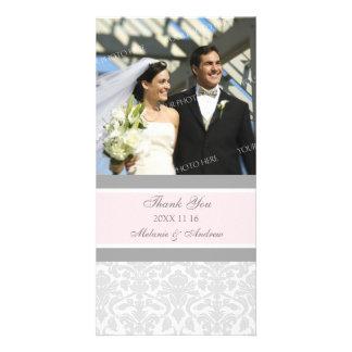 El gris rosado le agradece las tarjetas de la foto tarjeta fotográfica personalizada