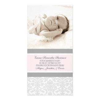 El gris rosado le agradece las tarjetas de la foto tarjetas con fotos personalizadas