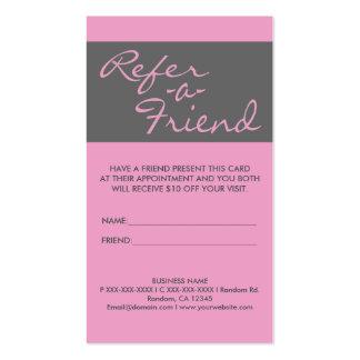 El gris rosado simple vertical refiere tarjetas de tarjetas de visita