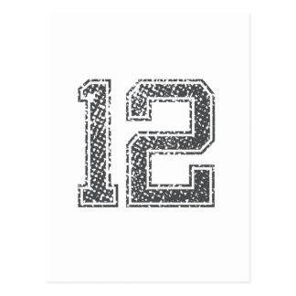 El gris se divierte el jersey #12 tarjeta postal