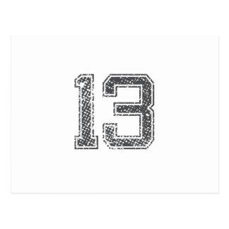 El gris se divierte el jersey #13 tarjetas postales