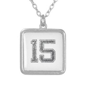 El gris se divierte el jersey #15 colgante cuadrado