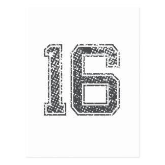 El gris se divierte el jersey #16 postales