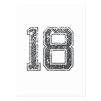 El gris se divierte el jersey #18 tarjeta postal