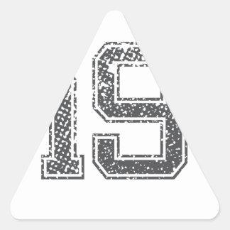 El gris se divierte el jersey #19 pegatina triangular