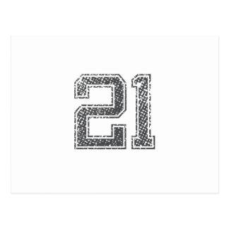 El gris se divierte el jersey #21 tarjetas postales