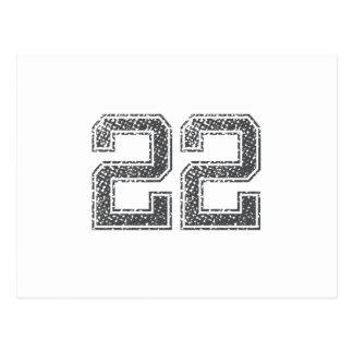 El gris se divierte el jersey 22 postal