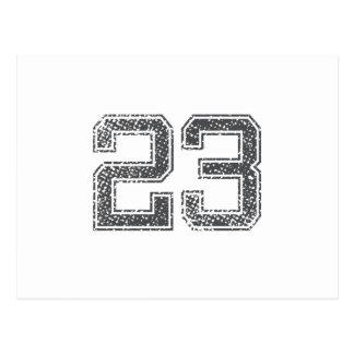 El gris se divierte el jersey #23 tarjeta postal