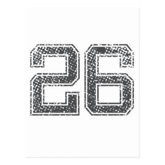 El gris se divierte el jersey #26 postal