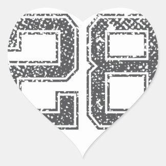 El gris se divierte el jersey #28 pegatina en forma de corazón