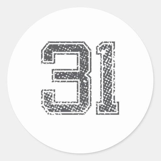 El gris se divierte el jersey #31 pegatinas redondas