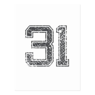 El gris se divierte el jersey #31 tarjeta postal