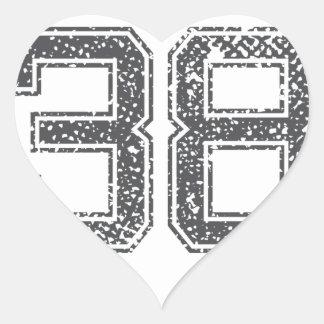 El gris se divierte el jersey #38 pegatina en forma de corazón