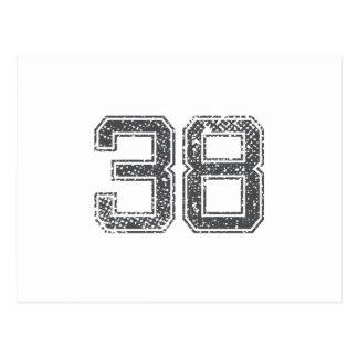 El gris se divierte el jersey #38 tarjeta postal