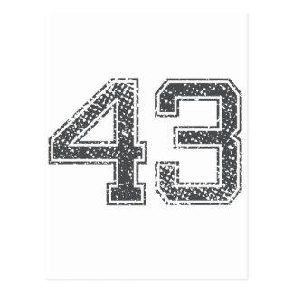 El gris se divierte el jersey #43 postal