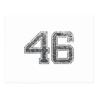El gris se divierte el jersey #46 tarjetas postales