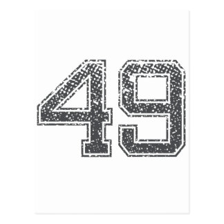 El gris se divierte el jersey #49 tarjetas postales
