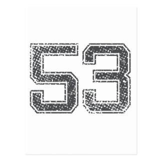 El gris se divierte el jersey #53 tarjeta postal