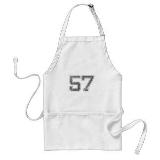El gris se divierte el jersey #57 delantal