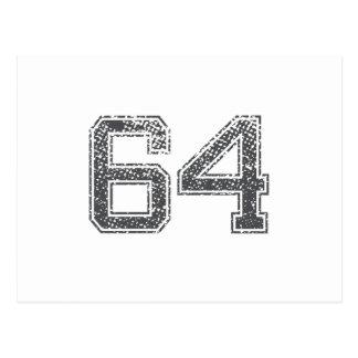 El gris se divierte el jersey #64 postal