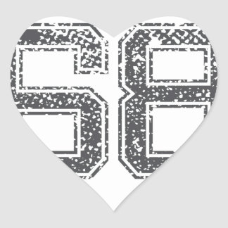 El gris se divierte el jersey #68 pegatina en forma de corazón