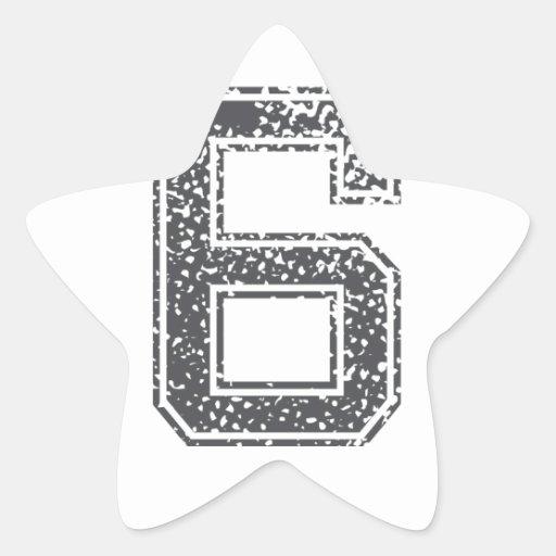 El gris se divierte el jersey #6 pegatinas forma de estrellaes