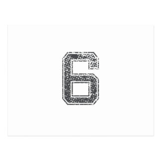 El gris se divierte el jersey #6 tarjeta postal