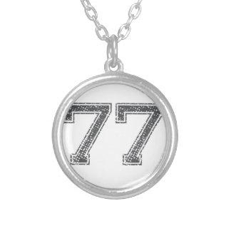 El gris se divierte el jersey #77 colgante redondo