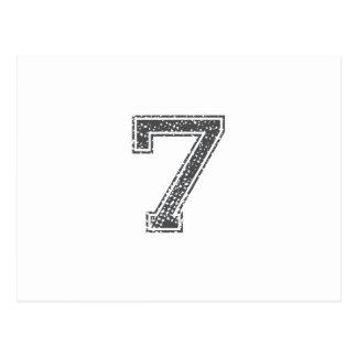 El gris se divierte el jersey 7 tarjetas postales