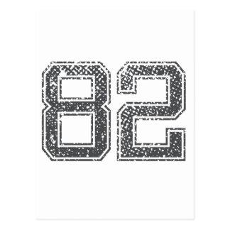 El gris se divierte el jersey #82 tarjeta postal