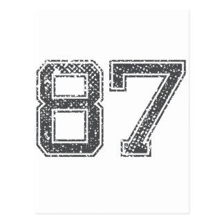 El gris se divierte el jersey #87 tarjetas postales