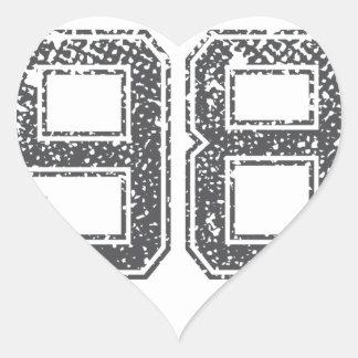 El gris se divierte el jersey #98 pegatina en forma de corazón