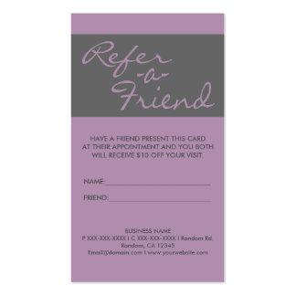 El gris simple vertical de la lavanda refiere tarjetas de visita