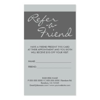 El gris simple vertical refiere tarjetas de un tarjetas de visita