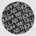 El gris titula al pegatina de ATWF