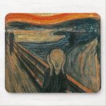 El grito de Edvard Munch Alfombrilla De Ratón